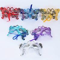 Fashion Party Mask, пластик, Связанный вручную, для детей & отверстие, разноцветный, 160x100mm, 5ПК/сумка, продается сумка
