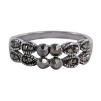 Модные кольца, цинковый сплав, черный свнец, разный размер для выбора & Женский & со стразами, не содержит никель, свинец, 6mm, продается PC