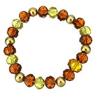 Кристалл браслеты, нержавеющая сталь, с Кристаллы, плакирован золотом, Женский, 9x12mm, 8x10mm, Продан через Приблизительно 7 дюймовый Strand