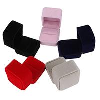 Бархатная коробочка для кольца, Бархат, Много цветов для выбора, 51x56x51mm, продается PC