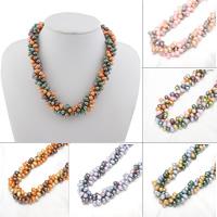 Природное пресноводное жемчужное ожерелье, Пресноводные жемчуги, Рисообразная, Женский, Много цветов для выбора, класса AAA, 5-6mm, Продан через Приблизительно 16.5 дюймовый Strand