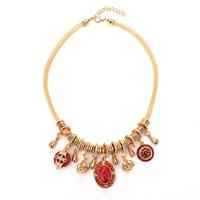 Ожерелья из бирюзы, цинковый сплав, с Синтетическая бирюза, с 5cm наполнитель цепи, плакирован золотом, со стразами, Много цветов для выбора, не содержит свинец и кадмий, 450x35mm, Продан через Приблизительно 17.5 дюймовый Strand