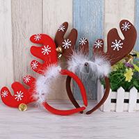 Нетканые ткани с Трип & пластик, Рождественские олени, Рождественские украшения, Много цветов для выбора, 250x250mm, продается PC