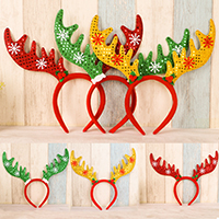 Нетканые ткани с Пластиковые блестки, Рождественские олени, Рождественские украшения, Много цветов для выбора, 300x300mm, продается PC