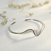 Серебро 925 пробы браслет-манжеты, покрытый платиной, 13mm, внутренний диаметр:Приблизительно 56mm, 2ПК/Лот, продается Лот