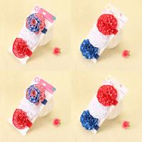 гросгрейнская лента Пот-всосанная Повязка, Форма цветка, разработки национального флага & для детей & различные модели для выбора, 50x50mm, 2Наборы/Лот, продается Лот