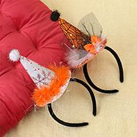 ткань Повязка для волос, с Трип & Кружево & пластик, для детей & Хэллоуин ювелирные изделия & разные стили для выбора, 270x120mm, 10ПК/Лот, продается Лот