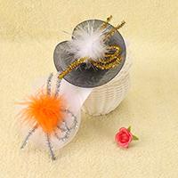 Марля заколка-клюв, с клип железа & Трип & пластик, шапка, для детей & Хэллоуин ювелирные изделия, Много цветов для выбора, 100x100mm, 10ПК/Лот, продается Лот
