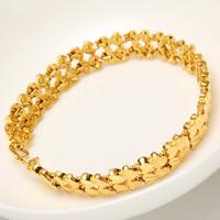 24 -каратного золота Цвет позолоченный браслет, Латунь, Позолоченные 24k, Женский, не содержит никель, свинец, 9mm, Продан через Приблизительно 8 дюймовый Strand