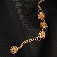 24 -каратного золота Цвет позолоченный браслет, Латунь, Позолоченные 24k, твист овал & Женский, не содержит никель, свинец, 9mm, Продан через Приблизительно 7.5 дюймовый Strand