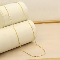 Цепочки из латуни, Латунь, Позолоченные 24k, Бар цепи & Женский, не содержит никель, свинец, 1mm, Продан через Приблизительно 17.5 дюймовый Strand