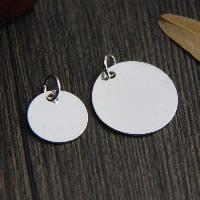 Кулоны из серебра, Серебро 925 пробы, Плоская круглая форма, разный размер для выбора, отверстие:Приблизительно 2-3mm, продается Лот