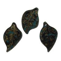 акриловые кулоны, Акрил, Листок, 11.50x19.50x2.50mm, отверстие:Приблизительно 1.5mm, Приблизительно 890ПК/сумка, продается сумка