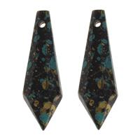 акриловые кулоны, Акрил, Много цветов для выбора, 10x30x10mm, отверстие:Приблизительно 1.5mm, Приблизительно 380ПК/сумка, продается сумка
