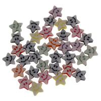 Акриловые Кабошоны, Акрил, Звезда, разноцветный, 9x3.5mm, Приблизительно 3560ПК/сумка, продается сумка