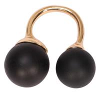 цинковый сплав Манжеты палец кольцо, с канифоль, плакирован золотом, Женский, Много цветов для выбора, не содержит свинец и кадмий, 15-18mm, размер:4.5-7, продается PC