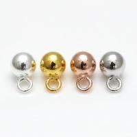 Кулоны из серебра, Серебро 925 пробы, Круглая, Другое покрытие, разный размер для выбора, Много цветов для выбора, отверстие:Приблизительно 1-2mm, 5ПК/Лот, продается Лот