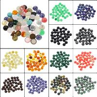 Кольё из камней, Полудрагоценный камень, Плоская круглая форма, различные материалы для выбора, 8x4mm, 100ПК/сумка, продается сумка