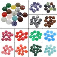 Кольё из камней, Полудрагоценный камень, Плоская круглая форма, различные материалы для выбора, 18x5mm, 100ПК/сумка, продается сумка