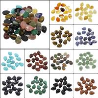 Кольё из камней, Полудрагоценный камень, Каплевидная форма, различные материалы для выбора, 12x16x5mm, 100ПК/сумка, продается сумка