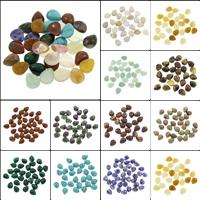 Кольё из камней, Полудрагоценный камень, Каплевидная форма, различные материалы для выбора, 8x10x4mm, 100ПК/сумка, продается сумка