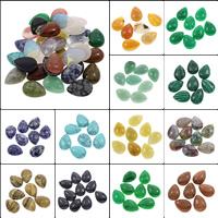 Кольё из камней, Полудрагоценный камень, Каплевидная форма, различные материалы для выбора, 18x25x7mm, 100ПК/сумка, продается сумка