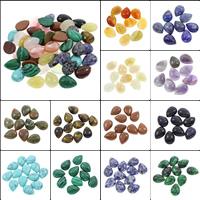 Кольё из камней, Полудрагоценный камень, Каплевидная форма, различные материалы для выбора, 15x20x6mm, 100ПК/сумка, продается сумка