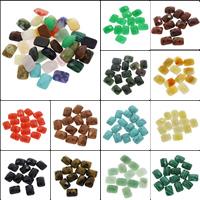 Кольё из камней, Полудрагоценный камень, Прямоугольная форма, различные материалы для выбора & Самоделки ограненные, 12x16x6mm, 100ПК/сумка, продается сумка