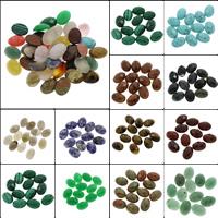 Кольё из камней, Полудрагоценный камень, Плоская овальная форма, различные материалы для выбора & Самоделки ограненные, 13x18x6mm, 100ПК/сумка, продается сумка
