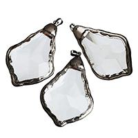 Подвески из кристаллов, Кристаллы, с Латунь, черный свнец, разнообразный, 45-47x70-72x15-17mm, отверстие:Приблизительно 5x7mm, продается PC