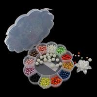 Бусины из пластика, пластик, с пластиковая коробка, 6-48x54x19mm, 157x25mm, внутренний диаметр:Приблизительно 1mm, продается Box
