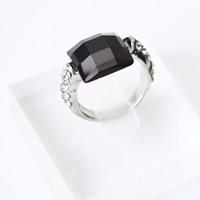 Кольца с кристаллами, цинковый сплав, с Кристаллы, Платиновое покрытие платиновым цвет, Женский & граненый & со стразами, не содержит свинец и кадмий, 25mm, размер:7.5, продается PC