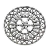 Ювелирные кабошоны из цинкового сплава, цинковый сплав, Форма цветка, плакированный цветом под старое серебро, не содержит свинец и кадмий, 46x2mm, 100ПК/сумка, продается сумка