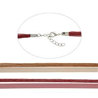 Шнуры для ожерелий, вощеный шнур, с Органза, с 5cm наполнитель цепи, 4-стренги, Много цветов для выбора, 1mm, длина:Приблизительно 16.5 дюймовый, 100пряди/сумка, продается сумка