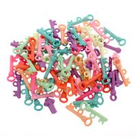акриловые кулоны, Акрил, Ключ, разноцветный, 8x20x4mm, отверстие:Приблизительно 1mm, 500G/сумка, продается сумка