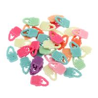 акриловые кулоны, Акрил, Сумка, разноцветный, 12x20x3mm, отверстие:Приблизительно 2mm, 500G/сумка, продается сумка