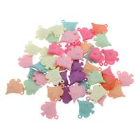 акриловые кулоны, Акрил, Рыба, разноцветный, 15x16x4mm, отверстие:Приблизительно 1mm, 500G/сумка, продается сумка