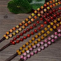Шнуры для ожерелий, Кварцит Jade, Много цветов для выбора, 6mm, длина:Приблизительно 23.6 дюймовый, 10пряди/Лот, продается Лот
