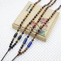 Шнуры для ожерелий, с тигровый глаз, различные материалы для выбора, 6mm, длина:Приблизительно 23.6 дюймовый, 10пряди/Лот, продается Лот