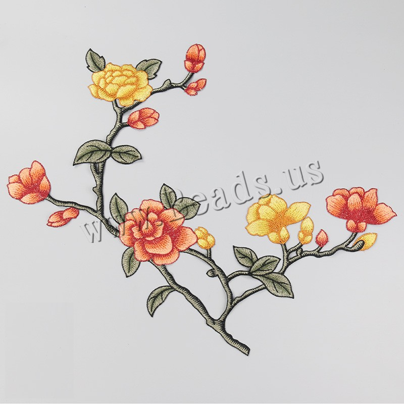 Buy Cloth Sewing-on Patch Branch Embroidery flower pattern colors choice 480x390mm Sold PC