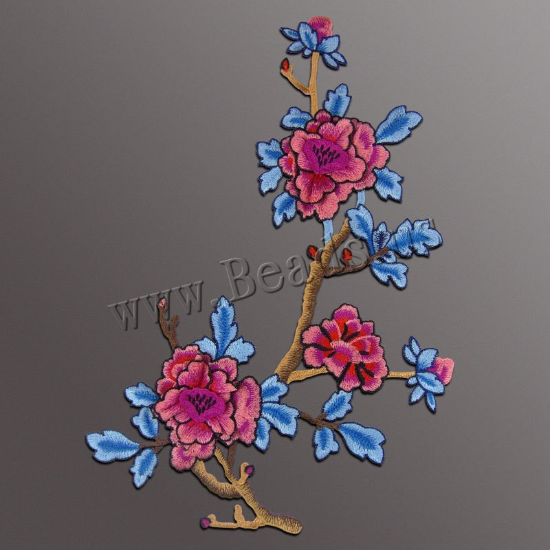 Buy Cloth Sewing-on Patch Branch Embroidery flower pattern colors choice 320x460mm Sold PC