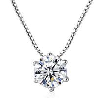 Серебряное ожерелье, Латунь, плакирован серебром, Цепной ящик & Женский & со стразами, не содержит свинец и кадмий, 6x6mm, Продан через Приблизительно 15.5 дюймовый Strand