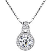 Серебряное ожерелье, Латунь, плакирован серебром, Цепной ящик & Женский & со стразами, не содержит свинец и кадмий, 16x11mm, Продан через Приблизительно 15.5 дюймовый Strand