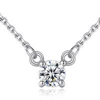 Серебряное ожерелье, Латунь, плакирован серебром, Овальный цепь & Женский & со стразами, не содержит свинец и кадмий, 5mm, Продан через Приблизительно 15.5 дюймовый Strand