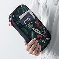 Полиэстер Владельца паспорта, Прямоугольная форма, различные модели для выбора & с цветочным узором & водонепроницаемый, 240x135x20mm, 5ПК/Лот, продается Лот