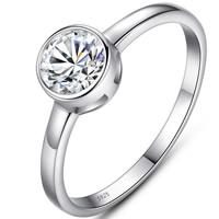 Кубический циркон микро проложить кольцо-латунь, Латунь, плакирован серебром, разный размер для выбора & инкрустированное микро кубического циркония & Женский, не содержит свинец и кадмий, 6mm, продается PC