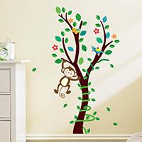 Наклейки на стену, PVC-пластик, Дерево, водонепроницаемый, 250x700mm, продается указан