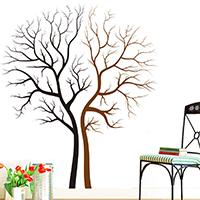 Наклейки на стену, PVC-пластик, Дерево, водонепроницаемый, 570x630mm, продается указан