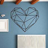 Наклейки на стену, PVC-пластик, Сердце, водонепроницаемый, 570x490mm, продается указан