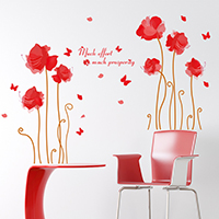 Наклейки на стену, PVC-пластик, Lotus, с рисунками бабочки & с письмо узором & водонепроницаемый, 900x600mm, продается указан